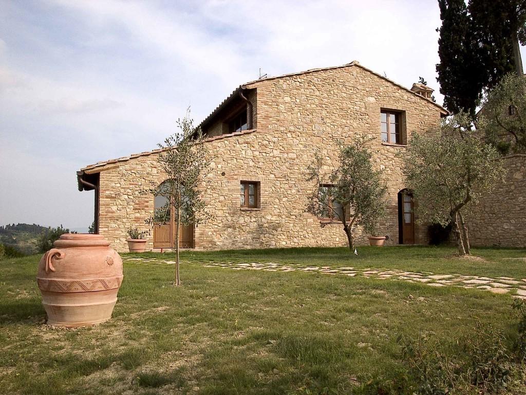 Casale con panorama incantevole sella campagna Toscana - San Gimignano